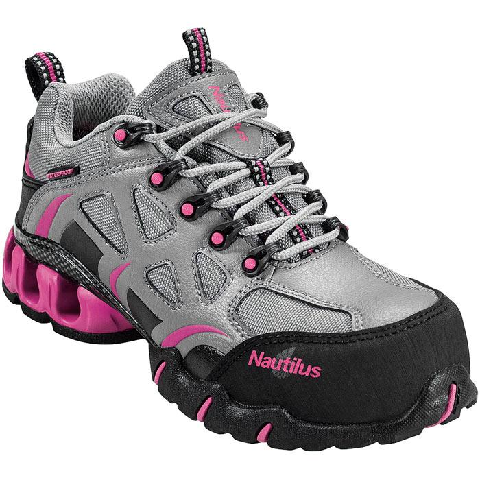 Pink Steel Toe Tennis Shoes